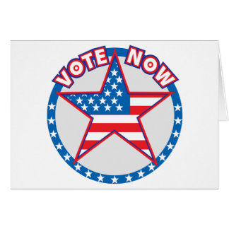 Vote Now Star Card