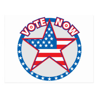 Vote Now Star Postcard