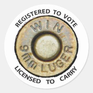 Vote o lleve pegatinas redondas