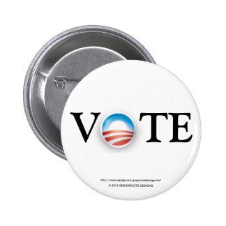 Vote Obama 2012 2 Inch Round Button