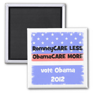 vote Obama 2012 2 Inch Square Magnet