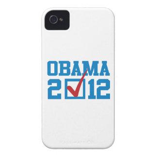 VOTE OBAMA 2012 BLUE -.png iPhone 4 Case