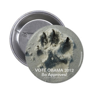 VOTE OBAMA 2012 BO APPROVES! 2 INCH ROUND BUTTON