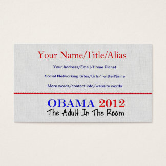 Vote Obama 2012 Business Card