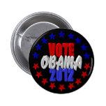 Vote Obama 2012 Button