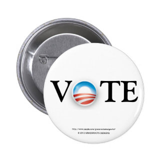 Vote Obama 2012 Buttons