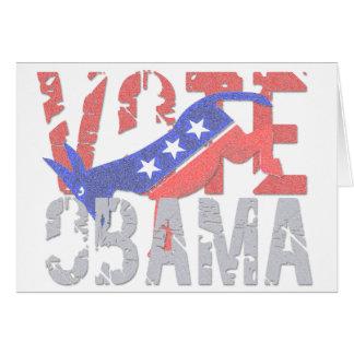 Vote Obama 2012 Card