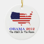 Vote Obama 2012 Christmas Ornament