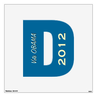Vote OBAMA 2012 Democrat Wall Decal