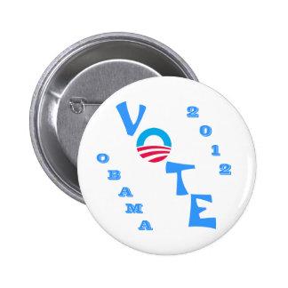 Vote Obama 2012 Pinback Button