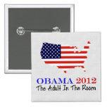 Vote Obama 2012 Pinback Buttons