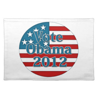 Vote Obama 2012 Cloth Place Mat