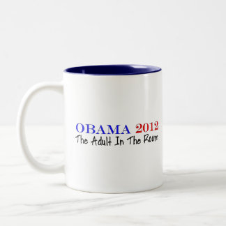 Vote Obama 2012 Two-Tone Coffee Mug