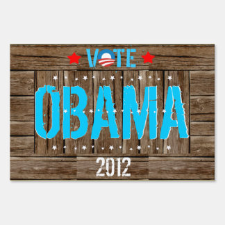 Vote Obama 2012 US Election Political Yard Sign