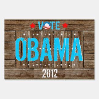 Vote Obama 2012 US Election Political Yard Sign