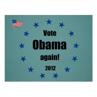 Vote Obama again, 2012 Postcard