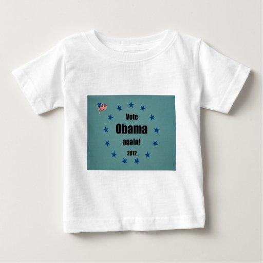 Vote Obama again, 2012 T-shirts