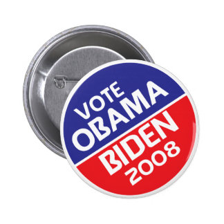 Vote Obama and Biden in 2008 Pinback Buttons