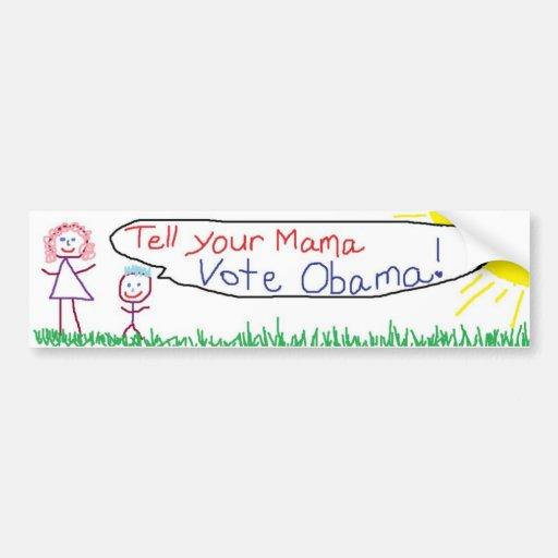 vote obama bumper sticker