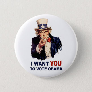 Vote Obama button