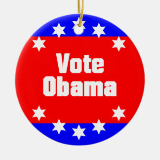 Vote Obama Ceramic Ornament