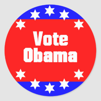 Vote Obama Classic Round Sticker