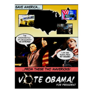 VOTE OBAMA! Election Comic Strip P... - Customized Poster