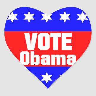 Vote Obama Heart Sticker