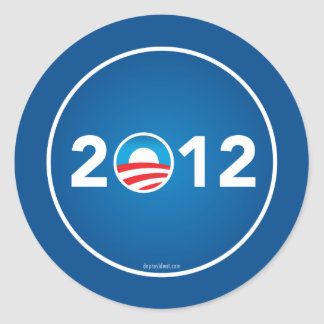 Vote Obama in 2012 Classic Round Sticker