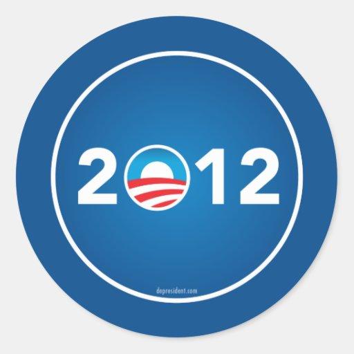 Vote Obama in 2012 Stickers
