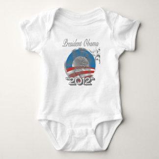 vote obama logo - image - 2012 baby bodysuit