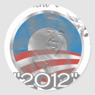 vote obama logo - image - 2012 classic round sticker
