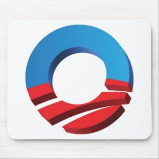 """Vote Obama """"O"""" Mouse Pad"""