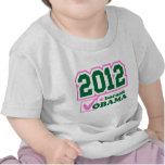 vote obama pink green light shirt