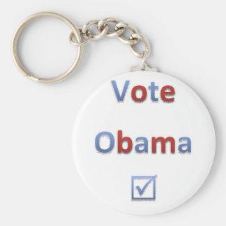 Vote Obama Retro Style 1 Keychain