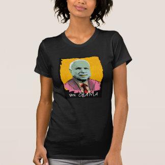 VOTE OBAMA Sheer V-Neck T-shirts