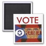 Vote Obama Square Magnet Refrigerator Magnets