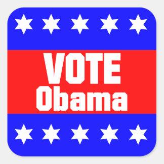 Vote Obama Square Sticker
