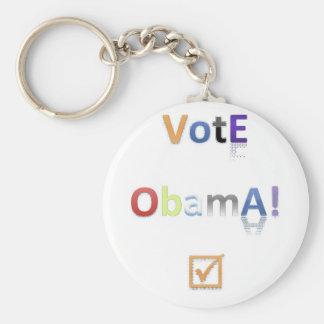 Vote Obama Style 2 Keychain