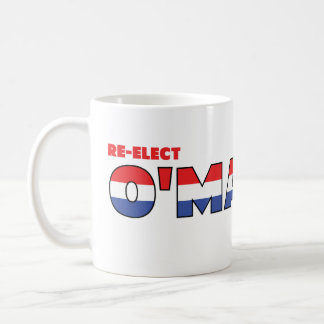Vote O'Malley 2010 Elections Red White and Blue Coffee Mug