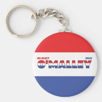 Vote O'Malley 2010 Elections Red White and Blue Keychain
