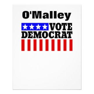 Vote O'Malley Democrat  for President Flyer