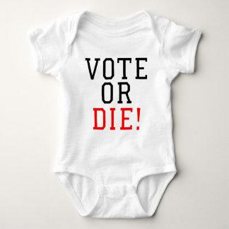 Vote or Die! Baby Bodysuit
