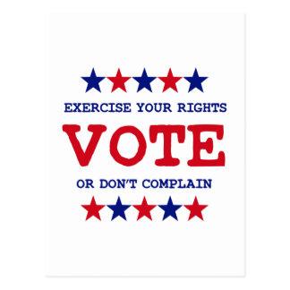 VOTE OR DON'T COMPLAIN POSTCARD