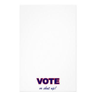 Vote or Shut Up Custom Stationery