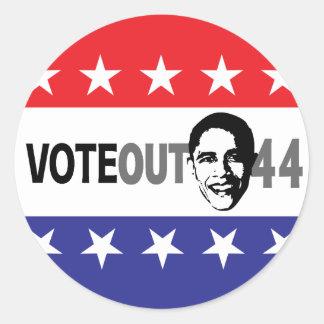 Vote Out 44 - Obama Classic Round Sticker