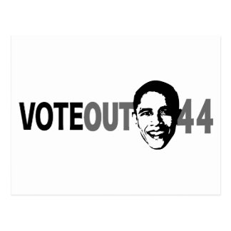 Vote Out 44 - Obama Postcard