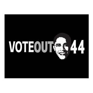 Vote Out 44 - Obama Postcard