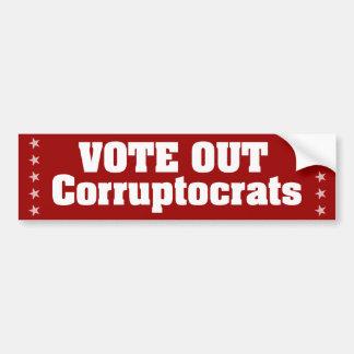 Vote Out Corruptocrats Car Bumper Sticker