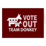Vote Out Team Donkey Greeting Card